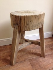 Tree Trunk Stool from Reclaimed Elm