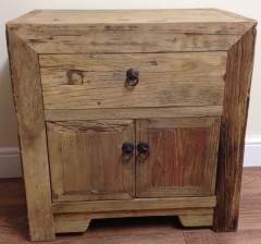 Rustic 2 Door Cabinet/Side Table in Reclaimed Elm