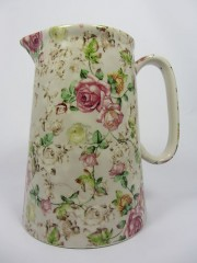 Lord Nelson Ware Victorian Chintz Jug Rose