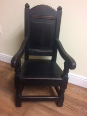 Child's Wainscot Chair in Dark Finish