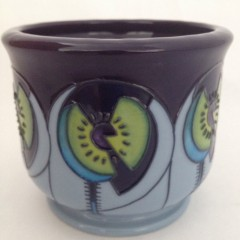 Moorcroft Cinco Blue Planter
