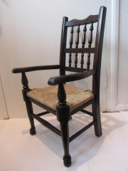 Childs Spindle and Rush Chair