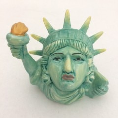 Statue of Liberty Face Pot