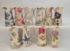 Edwardian Jugs - Sets of 10 patterns available