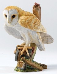 Country Artists Barn Owl on a Cartwheel