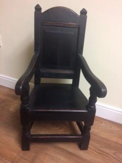 Child's Wainscot Chair in Dark Finish