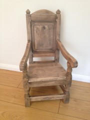Child's Wainscot Chair in Natural Finish