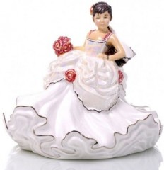 English Ladies Wedding Dreams Mini Bride - Brunette