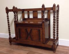 Oak Barley Twist Storage Seat