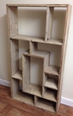 Open Bookcase/Display unit in Reclaimed Elm
