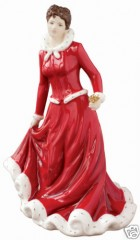 Royal Doulton Annual Festival Figure Christmas Rose