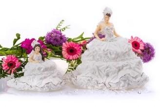 English Ladies Co. Fairytale Gypsy Bride with Mini Fairytale Gypsy Bride - BRUNETTE