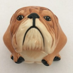 Bertie Bulldog Face Pot