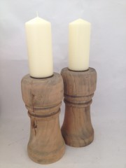 Chunky Elm Candlestick/holder (candles not included)