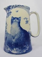 Royal Stone Flow Blue Jug The Cat