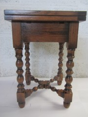 Oak Mini Bobbin Gateleg Table