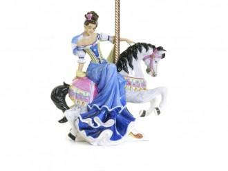 English Ladies Co. Fairground Attraction Carousel Figure - Blue Colourway